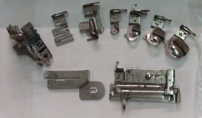 Full Greist sewing machine feet set with Low Shank attaching foot